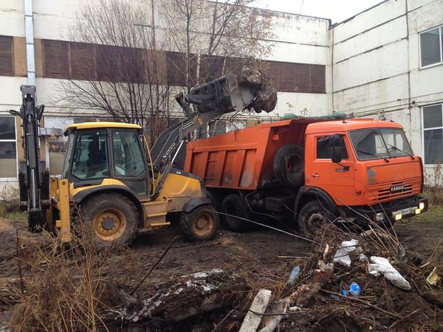 Аренда экскаватора-погрузчика Воронеж вывоз мусора