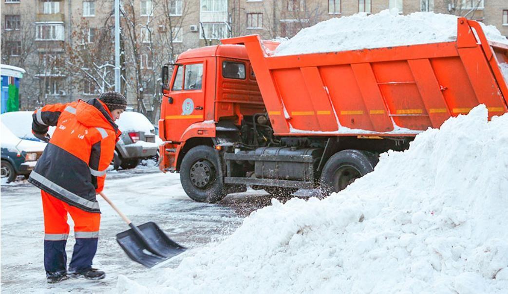 Заказ аренды экскаватора и самосвала для вывоза снега
